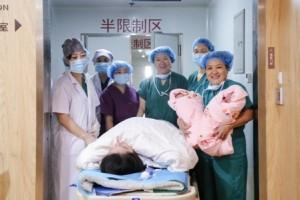 孕26周宫开三指,龙凤胎妈妈在美中商都紧急宫颈环扎保胎到38周平安分娩!